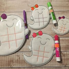 ITH – Girly Ghost Tic Tac Toe Boards