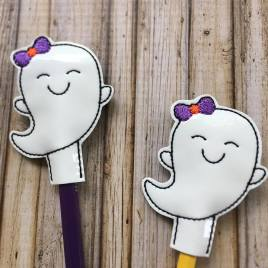 ITH – Girly Ghost Pencil Toppers 4×4 and 5×7 Grouped