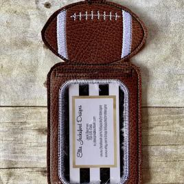 ITH – Football Vertical ID Holder 5×7 only