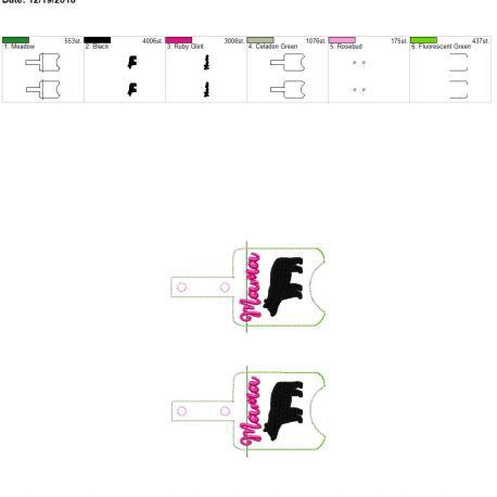 Mama Bear sanitizer holder snap tab 5×7 grouped