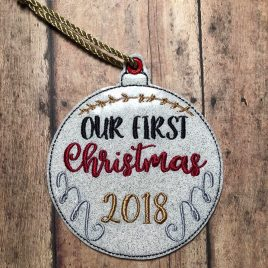 ITH -Our First Christmas 2018 Ornament 4×4 and 5×7 Grouped