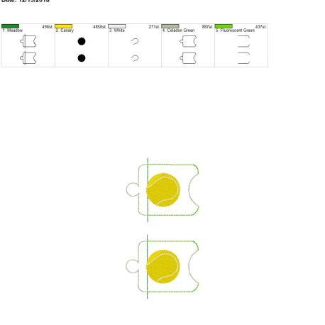 Tennis sanitizer holder eyelet 5×7 grouped