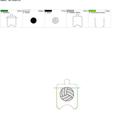Volleyball sanitizer holder eyelet 4×4