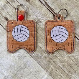 ITH Volleyball Sanitizer Holder 4×4 and 5×7 included- Embroidery Design – DIGITAL Embroidery DESIGN
