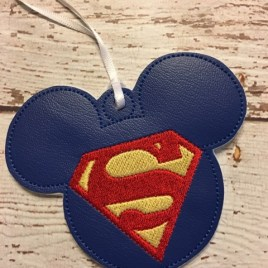 ITH Super Hero Mouse Ornament- 4×4 and 5×7 grouped- Embroidery Design – DIGITAL Embroidery DESIGN