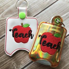 ITH Teach Sanitizer Holder 4×4 and 5×7 included- Embroidery Design – DIGITAL Embroidery DESIGN