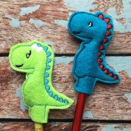 ITH Dino Duo Pencil Toppers 4×4 and 5×7 included- Embroidery Design – DIGITAL Embroidery DESIGN