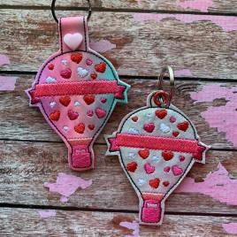 ITH Valentine Hot Air Balloon Tab and eyelet Fobs 4×4 and 5×7 included- Embroidery Design – DIGITAL Embroidery DESIGN