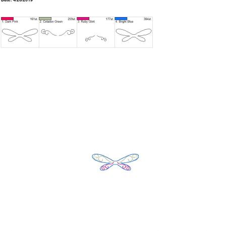 3d beautiful dragonfly feltie for zipper bag 4×4