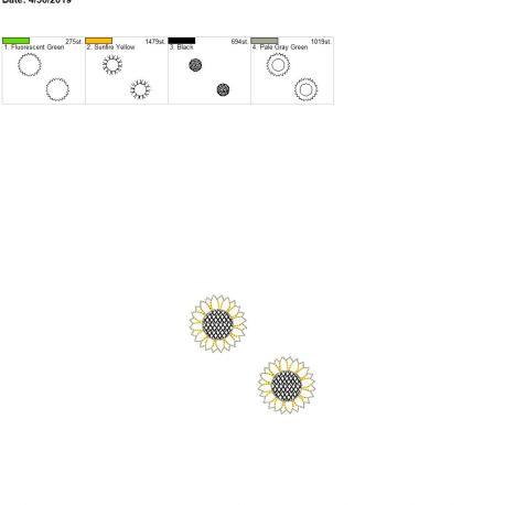 3D Bring the Sunshine Sunflower Feltie 4×4 grouped