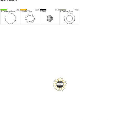 3D Bring the Sunshine Sunflower Feltie 4×4 single
