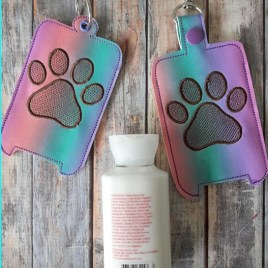 ITH Paw Hand Lotion Holder 5×7 included- DIGITAL Embroidery DESIGN