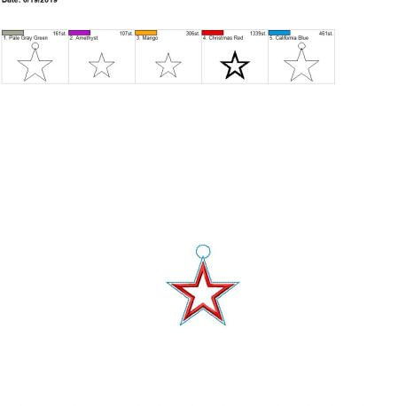 applique star eyelet 4×4