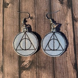 ITH – Wizard Triangle Earrings – 4×4 and 5×7 Grouped- Digital Embroidery Design