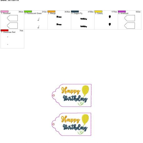 Happy birthday gift tag 5×7 grouped