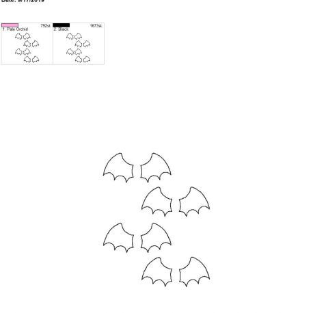 3d bat wing felties for fobs 5×7 grouped