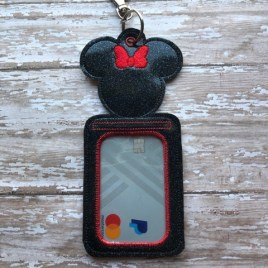 ITH – Miss Mouse ID Holder 5×7 only – Digital Embroidery Design