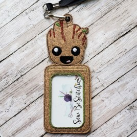 ITH – Baby Tree ID Holder 5×7 only – Digital Embroidery Design
