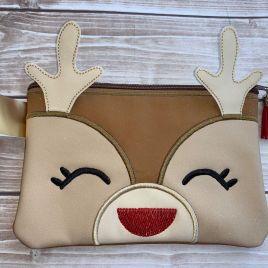 ITH – 3D Girl Reindeer Zipper Bag 5×7, 6×10, 8×12 – Digital Embroidery Design