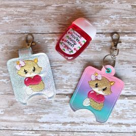 ITH Valentine Fox Sanitizer Holders 4×4 and 5×7 included- DIGITAL Embroidery DESIGN