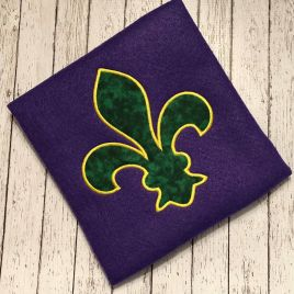 ITH Fleur De Lis Applique – 3 Sizes – Digital Embroidery Design