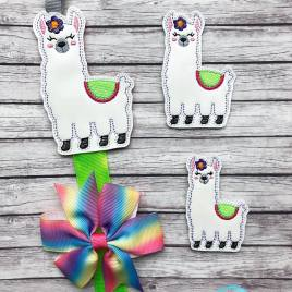 ITH – Llama Felties – 3 sizes – 4×4 and 5×7 Grouped- Digital Embroidery Design