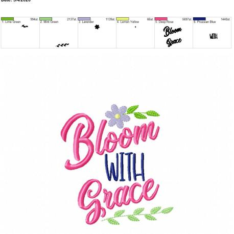 Bloom with grace 5×7