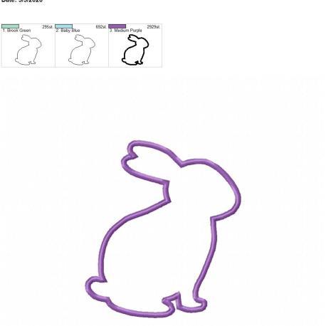 bunny applique 5×7