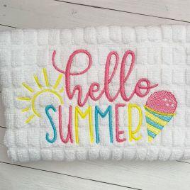 Hello Summer – 3 Sizes – Digital Embroidery Design