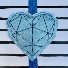 ITH – Geometric Heart – Book Band – Digital Embroidery Design