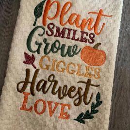 Plant Grow Harvest – 2 Sizes – Digital Embroidery Design