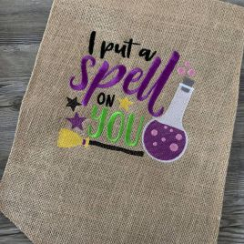 I put a spell on you – 4 Sizes – Digital Embroidery Design