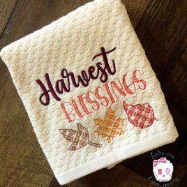 Harvest Blessings – 2 Sizes – Digital Embroidery Design