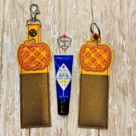 ITH Plaid Pumpkin Lip Balm Holders 5×7 – DIGITAL Embroidery DESIGN