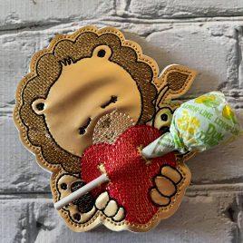 Lion Heart Sucker Holder – DIGITAL Embroidery DESIGN