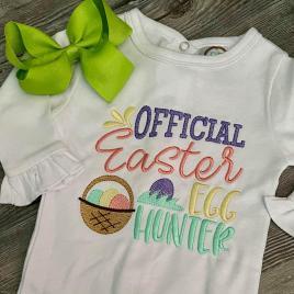 Official Easter Egg Hunter – 2 sizes- Digital Embroidery Design