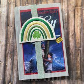 Boho Rainbow Shamrock Book Band – Embroidery Design, Digital File