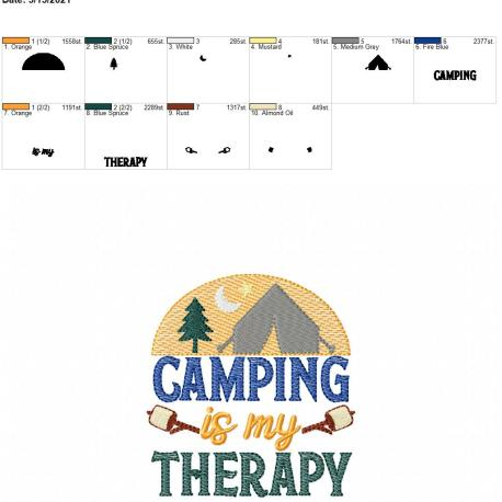 Camping is my therapy 4×4