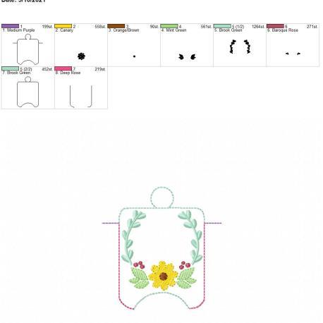 Flower frame sanitizer holder eyelet 4×4