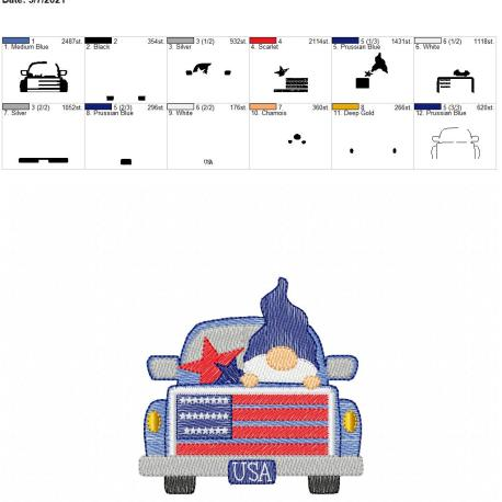 Gnome USA Truck Sketch 4×4