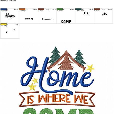 Home is where we camp 6×10