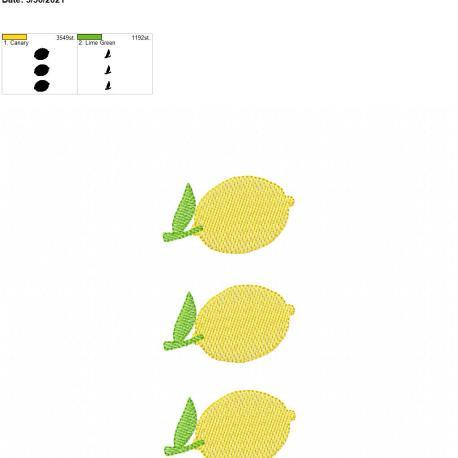 Lemon Sketch Trio 5×7