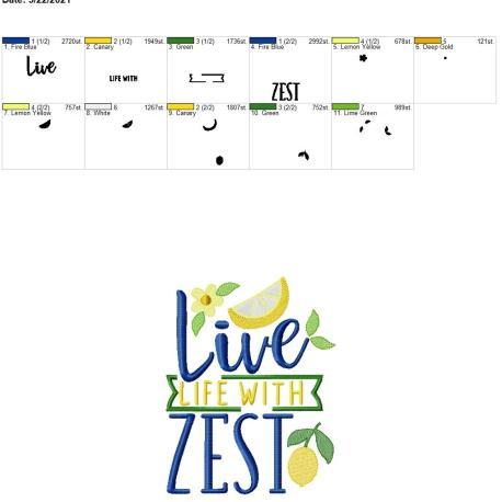Live life with zest 6×10