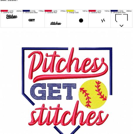 Pitches get stitches 6×10
