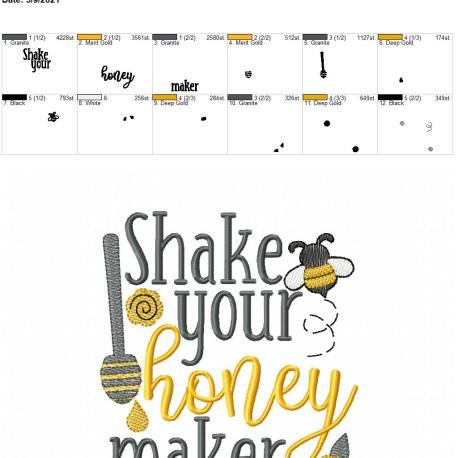 Shake your honey maker 5×7