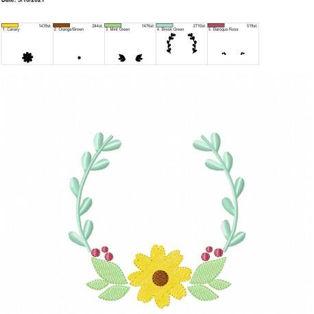 flower frame 5×7
