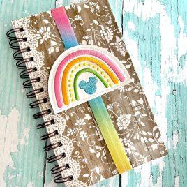 Boho Rainbow Mouse Book Band – Embroidery Design, Digital File