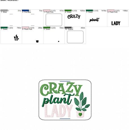 Crazy plant lady book band 4×4