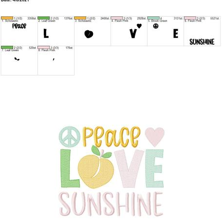 Peace love sunshine 8×12