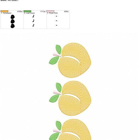 Peach Sketch Trio 5×7